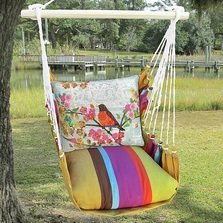 """Robin on Branch Hammock Chair Swing """"Cafe Soleil"""" 