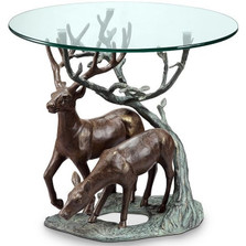 Deer Duo End Table | 34125 | SPI Home