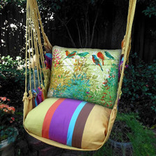 """Birds on a Wire Hammock Chair Swing """"Cafe Soleil"""" 