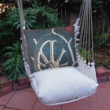"Ship Wheel Hammock Chair Swing ""Latte"" 