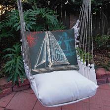 "Sailboat Hammock Chair Swing ""Latte"" | Magnolia Casual | LTTC503-SP"