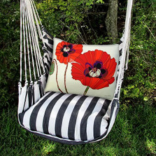 "Poppies Hammock Chair Swing ""True Black"" 