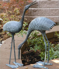 Crane Sculpture Set of 2 Stately Garden Cranes | BS3139 | SPI Home