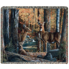 Deer Tapestry Throw Blanket | Manual Woodworkers | MWWATBS2