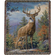 Deer Tapestry Throw Blanket | Manual Woodworkers | MWWATSTPD