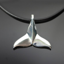 Dolphin Tail Sterling Silver Pendant Necklace | Anisa Stewart Jewerly | ASJS1020