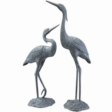 Garden Heron Pair Sculpture | 33223 | SPI Home