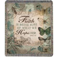 Butterfly Inspirational Tapestry Throw Blanket | Manual Woodworkers | ATFSUR
