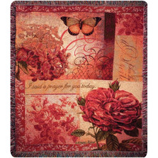 Butterfly Inspirational Tapestry Throw Blanket | Manual Woodworkers | ATSBLV