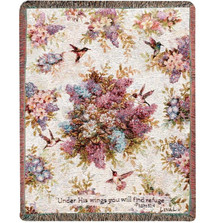 Hummingbird Inspirational Tapestry Throw Blanket | Manual Woodworkers | ATLWWV