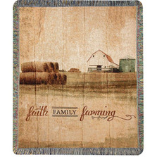 Farm Inspirational Tapestry Throw Blanket | Manual Woodworkers | ATFFFR