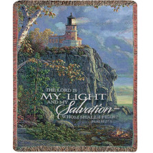Lighthouse Inspirational Tapestry Throw Blanket | Manual Woodworkers | ATGLT