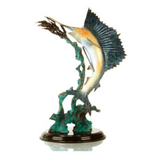 Ballyhoo For Sail - Sailfish Sculpture | 31996 | SPI Home