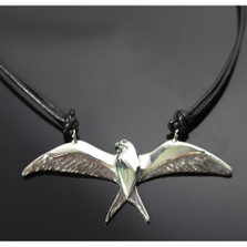 Swallowtail Kite Sterling Silver Pendant Necklace | Anisa Stewart Jewelry | ASJW1024N