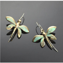 Dragonfly Bronze Wire Earrings | Anisa Stewart Jewelry | ASJBREW1020