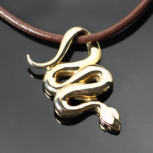 Snake Bronze Pendant Necklace | Anisa Stewart Jewelry | ASJBRW1002