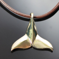 Dolphin Tail Bronze Pendant Necklace | Anisa Stewart Jewelry | ASJBRS1020