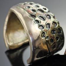 Speckled Trout Bronze Cuff Bracelet | Anisa Stewart Jewelry | ASJBRB1008 -1