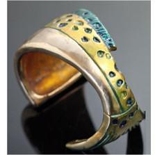 Mahi-Mahi Bronze Cuff Bracelet | Anisa Stewart Jewelry | ASJBRB1009 -1