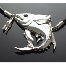 Yellowfin Tuna Sterling Silver Pendant Necklace   Anisa Stewart Jewelry   ASJF1020-NL