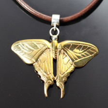 Butterfly Bronze Pendant Necklace | Anisa Stewart Jewelry | ASJBRW1010