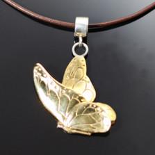 Butterfly Bronze Pendant Necklace on Cord | Anisa Stewart Jewelry | ASJBRW1011