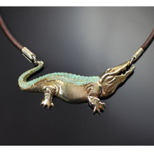 Alligator Bronze Pendant Necklace | Anisa Stewart Jewelry | ASJBRW1015