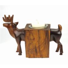 Deer Ironwood Candle Holder | Earthview | EV7892