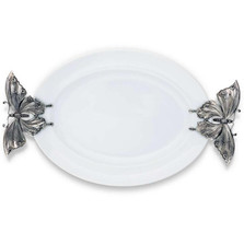 Butterfly Stoneware Pewter Tray | Vagabond House | G307BF