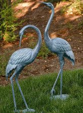 Garden Crane Pair Outdoor Statue | 31291 | SPI Home
