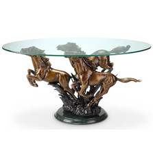 Galloping Horse Trio Coffee Table | 34069 | SPI Home