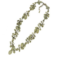 Barberry Pearl Cluster Necklace | Michael Michaud Jewelry | 9122BZWP