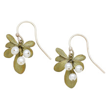 Barberry Pearl Wire Earrings | Michael Michaud Jewelry | 3224BZWP