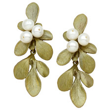 Barberry Drop Pearl Post Earrings | Michael Michaud Jewelry | 3223BZWP