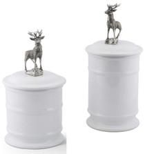 Elk Stoneware Canister Set of 2 | Vagabond House | B263E-H273E
