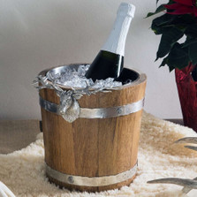 Elk Wood Pail Ice Bucket  | Vagabond House | B226EK -4