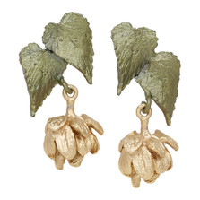 Hops Post Earrings | Michael Michaud Jewelry | 3236BZG