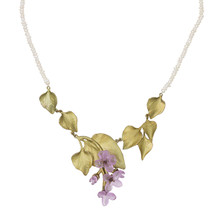 Lilac Multi Leaf Pearl Necklace | Michael Michaud Jewelry | 9107BZWP