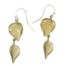 Lilac Double Leaf Wire Earrings   Michael Michaud Jewelry   3206BZ