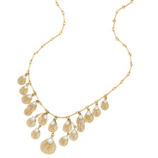 Sea Scallop Adjustable Necklace with Pearls | Michael Michaud Jewelry | 9117BZGSWP