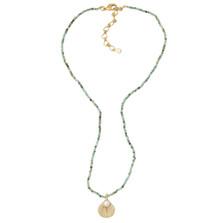 Sea Scallop Pendant on Turquoise Necklace | Michael Michaud Jewelry | 9120BZGSWPTQ