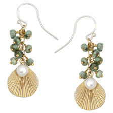 Sea Scallop Turquoise Dangle Earrings | Michael Michaud Jewelry | 3219BZGSWPTQ