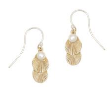 Sea Scallop Petite Wire Earrings | Michael Michaud Jewelry | 3217BZGSWP