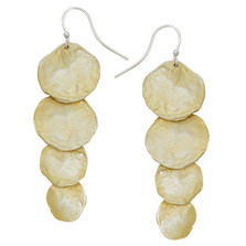 Petite La Mer Cascading Shells Wire Earrings | Michael Michaud | 3214BZGS