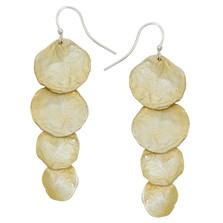 Petite La Mer Cascading Shells Wire Earrings | Michael Michaud | 3214BZGS