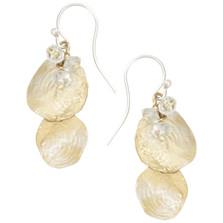 Petite La Mer Shells Blue Topaz Wire Earrings | Michael Michaud | 3221BZGSBT