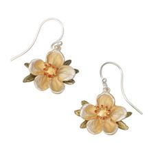 Tundra Rose Flower Wire Earrings   Michael Michaud Jewelry   3201BZGS