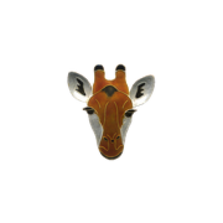 Giraffe Face Pin | Bamboo Jewelry | BJ0214p -2