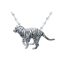 White Tiger Crystal Necklace | Bamboo Jewelry | BJ0203cyn