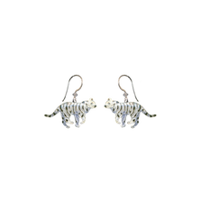 White Tiger Wire Earrings | Bamboo Jewelry | BJ0203e